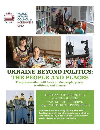 Ukraine Beyond Politics Toledo Ohio event
