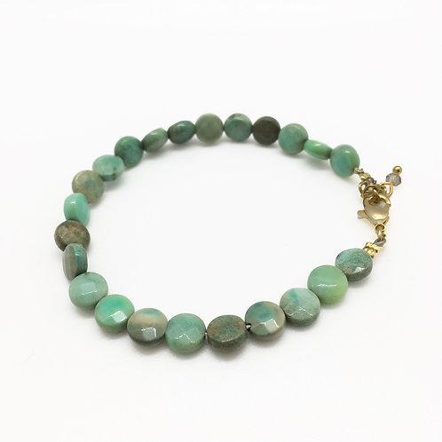 Bracelet or Agate d'herbe