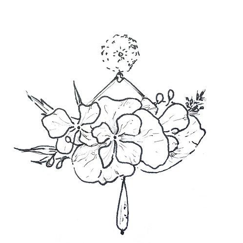 A venir Boucles Bouquet rose fuschia