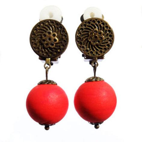 Boucles Murano rouge mat
