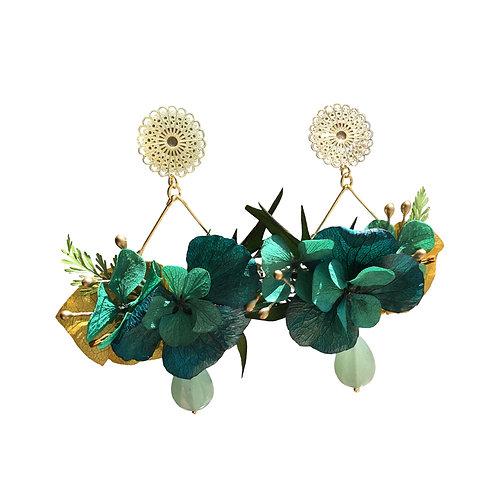 Boucles Bouquet turquoise safran