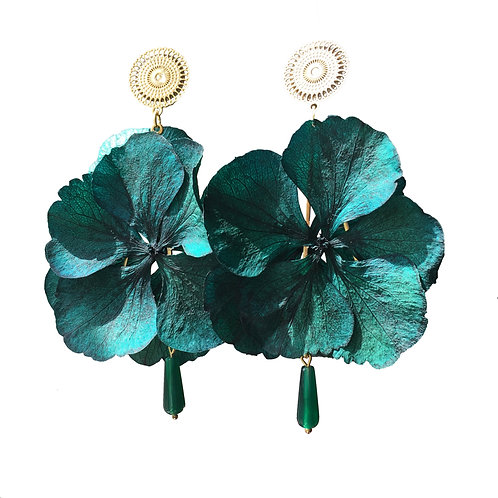 Boucles Hortensia turquoise