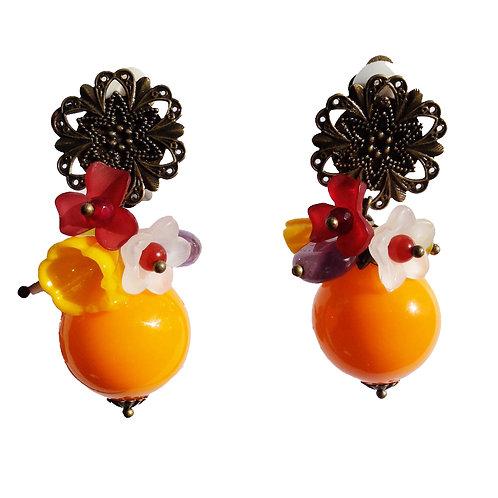 Boucles Bulle bouquet orange