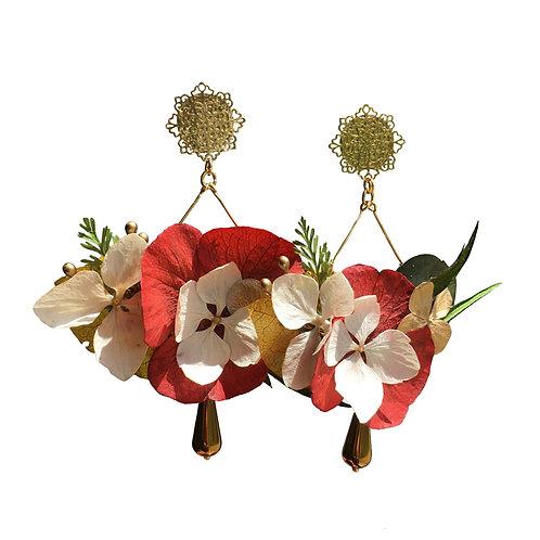 Boucles Bouquet rouge