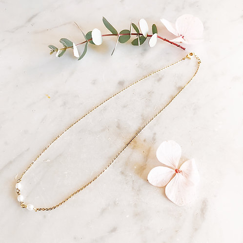 Collier Or fin perles