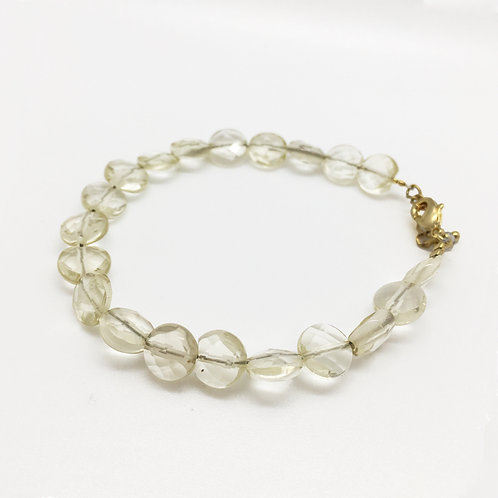 Bracelet or Quartz citron
