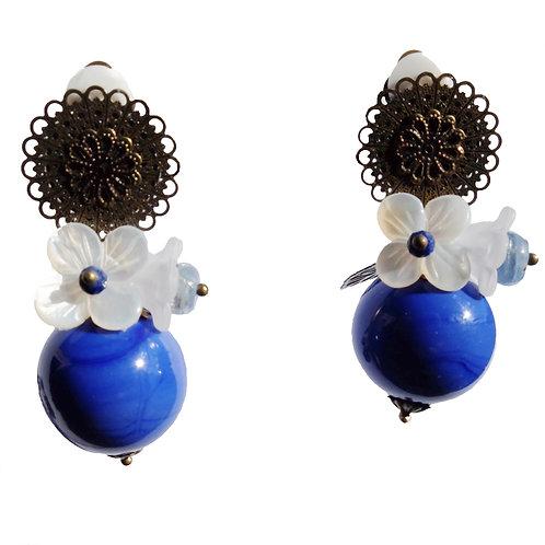 Boucles Bulle bouquet bleu