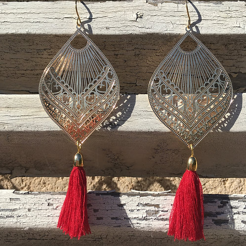 Boucles Lucie rouge