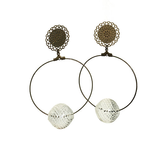 Boucles Bulle Murano filigrane