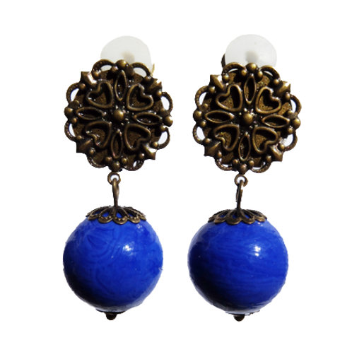 Boucles Murano bleu