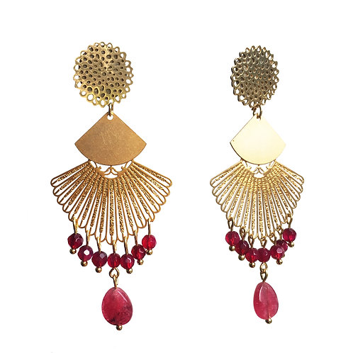 Boucles Eventail or agate