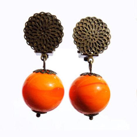 Boucles Murano orange