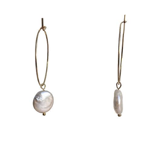 Boucles Créole et perle