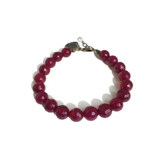 Bracelet Agate fuchsia