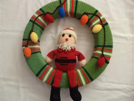 Santa Clause Christmas Wreath