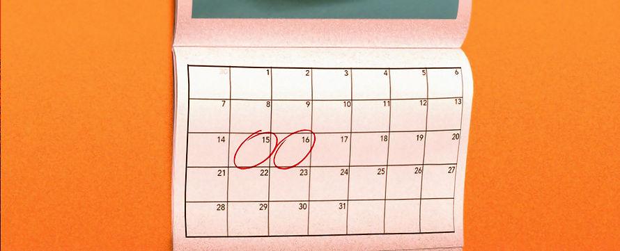 A calendar with dates circled