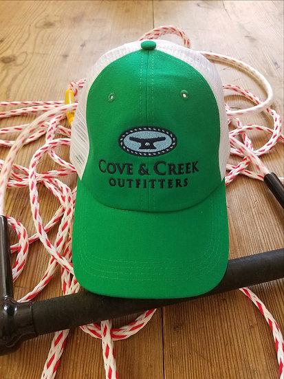 Cove & Creek Kelly Green Trucker Hat with Navy and White