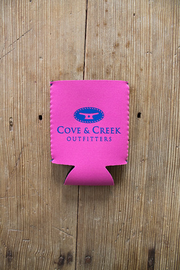 Cove & Creek Pink Can Holder with Blue