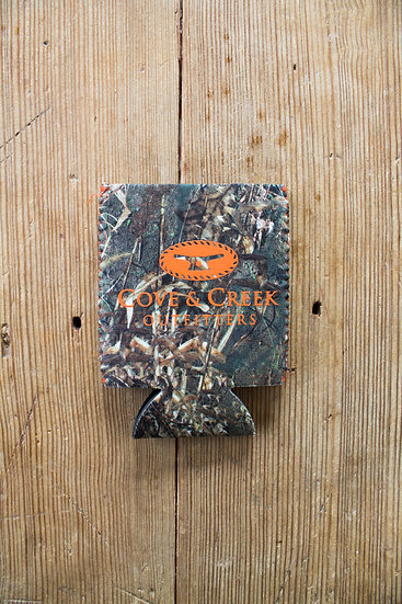 Cove & Creek Camo Can Holder with Orange