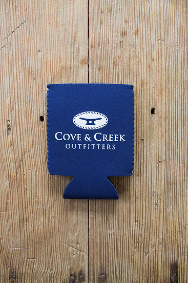 Cove & Creek Navy Can Holder with White