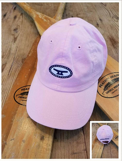 Rope & Cleat Pink Hat with Navy and White
