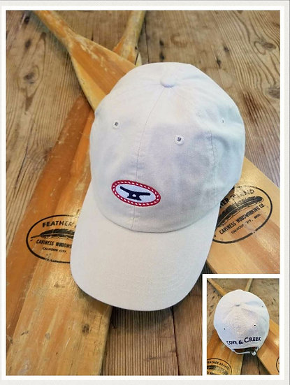 Rope & Cleat Stone Hat with Red, White and Blue