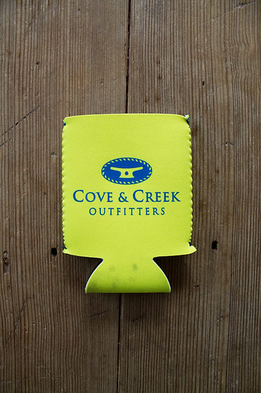 Cove & Creek Yellow Can Holder with Blue