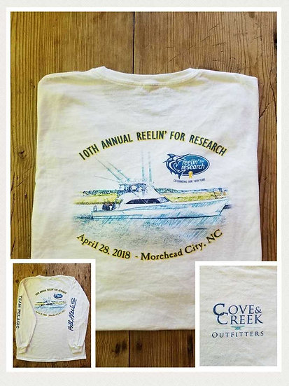 Limited Edition 2018 Long Sleeve Cove & Creek/Reelin' for Research T-Shirt