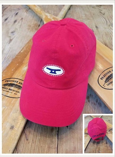 Rope & Cleat Red Hat with Red, White and Blue