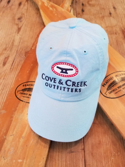 Cove & Creek Light Blue Hat with Red, White and Blue