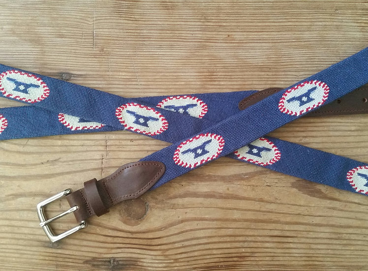 Cove & Creek Needlepoint Belt