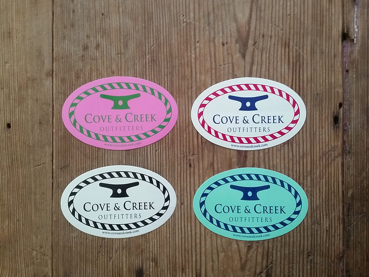 Cove & Creek 4 Pack of Stickers