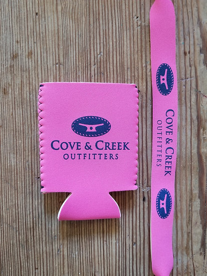 Cove & Creek Pink Can Holder-Sunglass Strap Combo with Navy