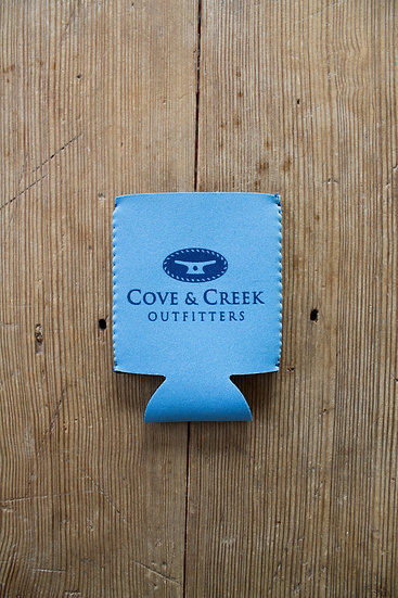 Cove & Creek Light Blue Can Holder with Blue