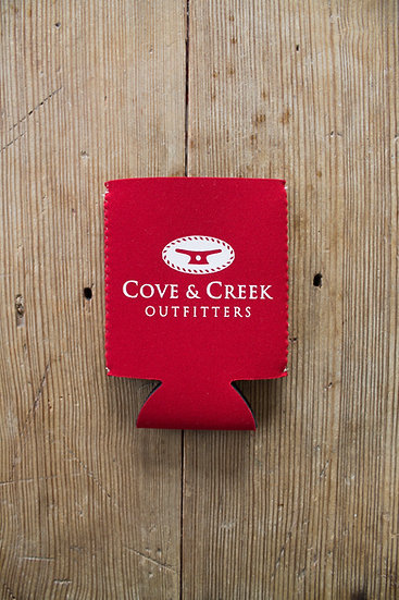 Cove & Creek Red Can Holder with White