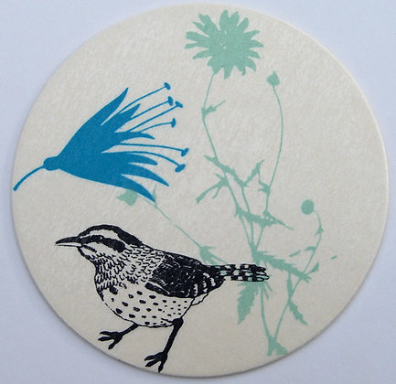 GlasTräger Vogel & Blumen