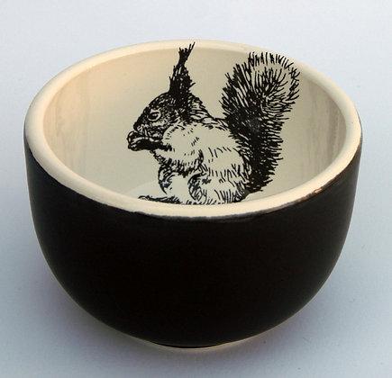 TafelFreude Schale schwarz matt Eichhörnchen