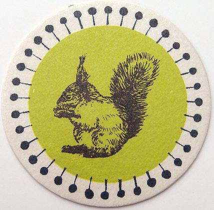 GlasTräger Eichhörnchen rund