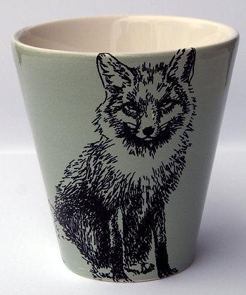 TafelFreude Tasse salbeigrün Fuchs