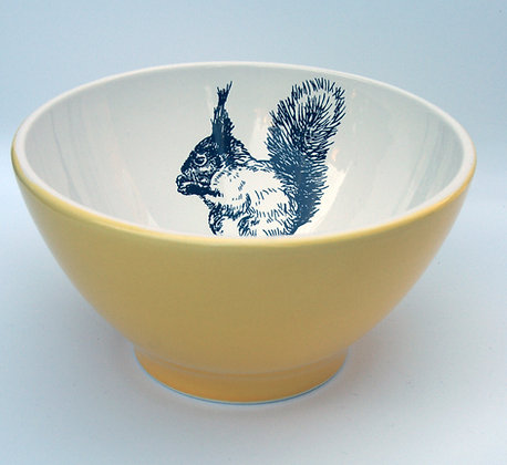 TafelFreude Müeslischüssel gelb Eichhörnchen