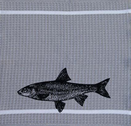 SchmierLappen hellgrau Fisch