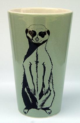 TafelFreude Tasse/Vase salbeigrün Erdmännchen