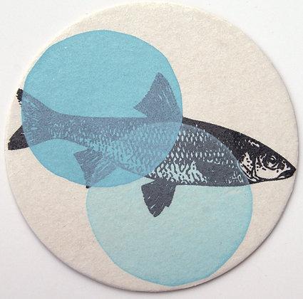 GlasTräger Fisch hellblau