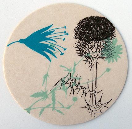 GlasTräger Distel & Blumen