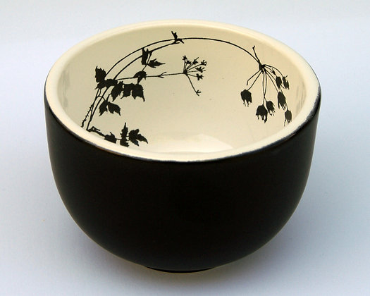 TafelFreude Schale schwarz matt Kerbel