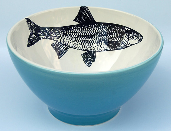 TafelFreude Müeslischüssel türkis Fisch