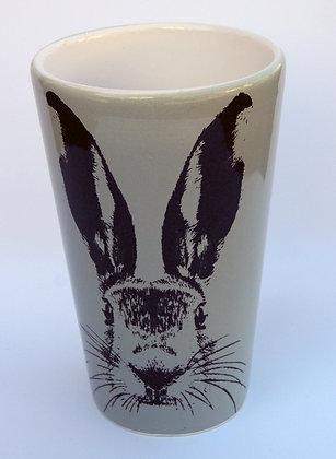 TafelFreude Tasse/Vase salbeigrün Hase