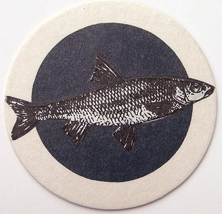 GlasTräger Fisch petrol