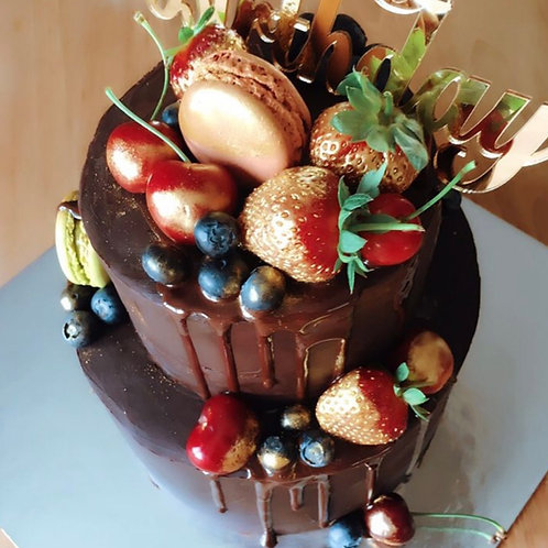 Chocolate Drip Cake (for adults)