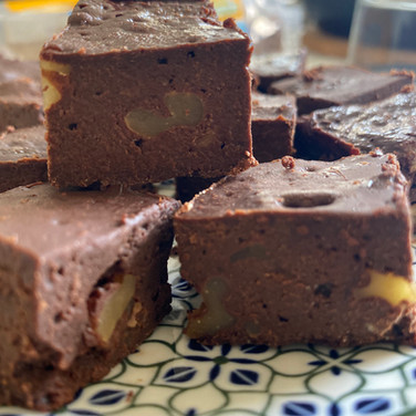 Fit Brownie with Walnuts